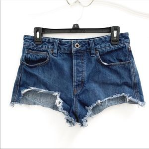 Free People Step Hem Distressed Jean Shorts